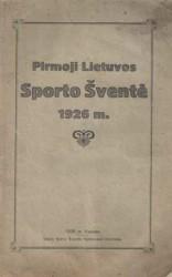 Pirmoji Lietuvos sporto...