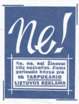 Ramūnas Minkevičius knyga Ne! Tarpukario Lietuvos reklama